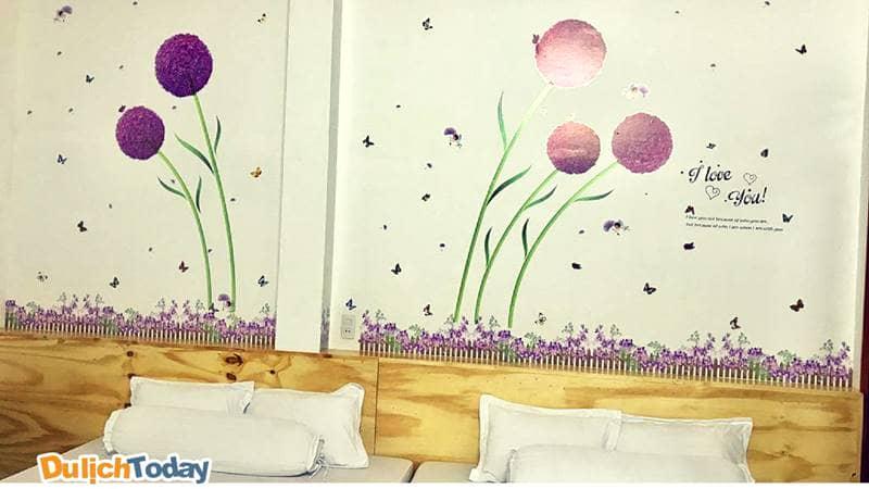 Phòng ngủ của 129 Villa homestay Vũng Tàu bãi Sau khá thoải mái, ấm cúng dễ thương