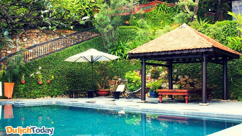 Không gian xanh mát gần gũi với thiên nhiên của Bình An Resort Vũng Tàu
