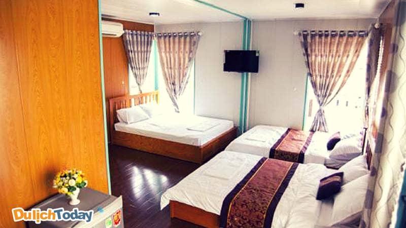 Một gian phòng ngủ dành cho 6 người tại Vũng Tàu Container Homestay