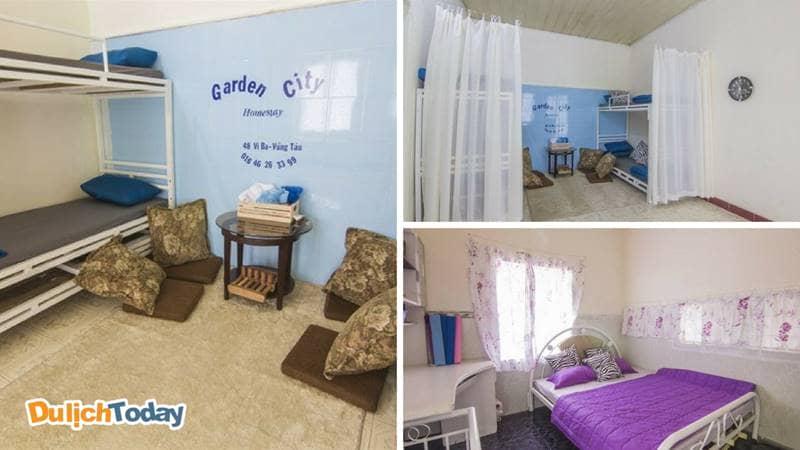 Garden city homestay - kiểu giường tầng phù hợp với nhóm đoàn
