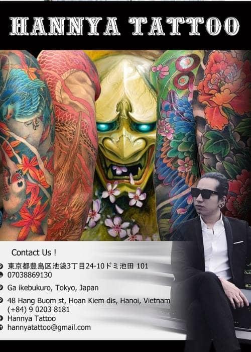 Hannya mang nghệ thuật xăm hình ở Việt Nam đến đất nước Nhật Bản