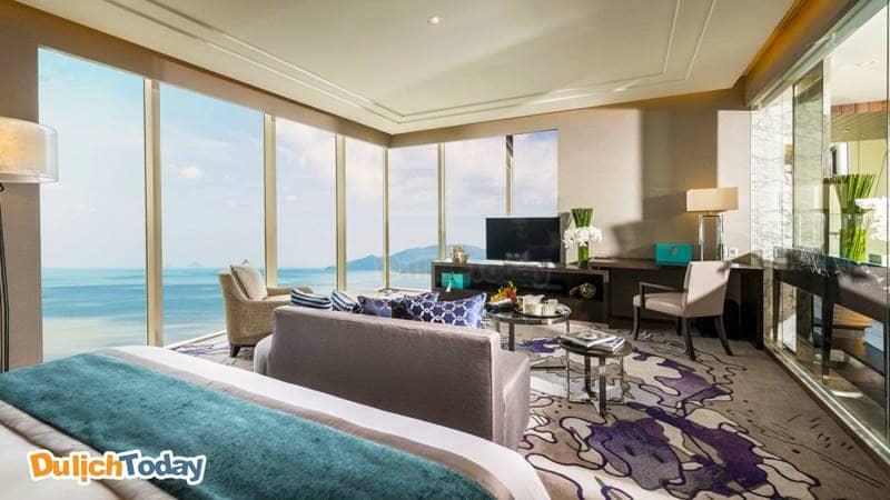 Hệ thống phòng tại Intercontinental với nội thất sang trọng và view nhìn siêu đẹp