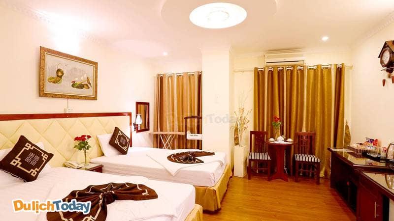 Phòng Deluxe 2 giường đơn tại A25 Lương Ngọc Quyến