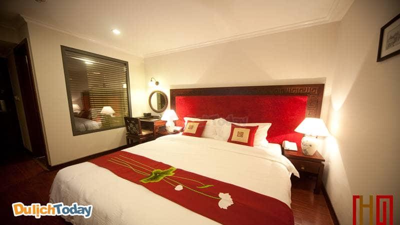 Phòng Deluxe Double tại Khách Sạn Au Coeur D'hanoi