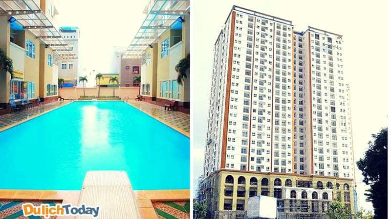 Bể bơi và khu chung cư của Mia homestay Vũng Tàu bãi Sau