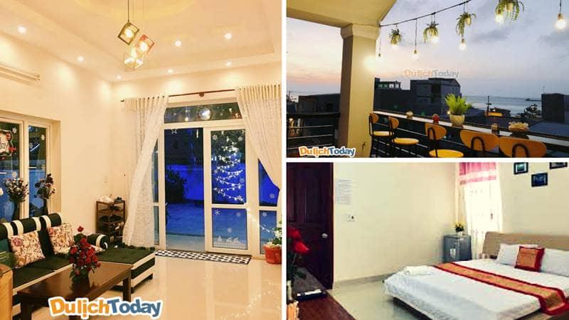 Không gian của Sunday Villa Homestay luôn khiến cho du khách có cảm giác ấm cũng như ở nhà