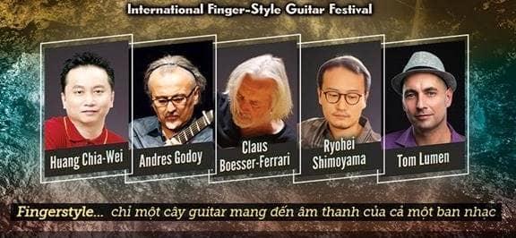 Các nghệ sĩ biểu diễn tại liên hoan Guitar Fingerstyle Quốc Tế lần thứ IV tại Việt Nam