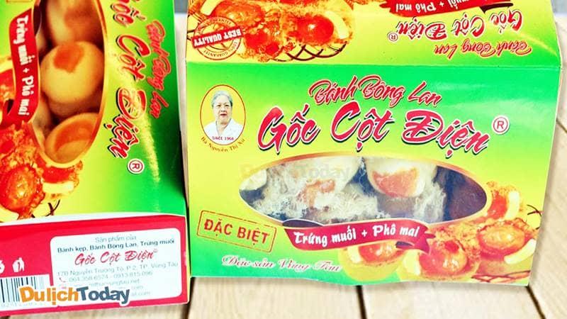 Bánh bông lan trứng muối gốc cột điện đặc sản Vũng Tàu