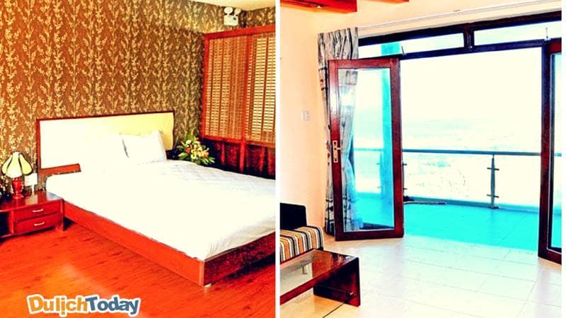 Thiết kế trong mỗi phòng nghỉ tại Bình Minh Cable Car luôn tạo cho du khách không gian thoải mái nhất
