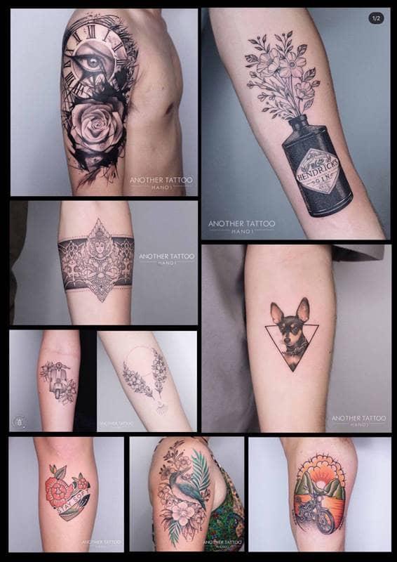Các hình xăm tại Another Tattoo