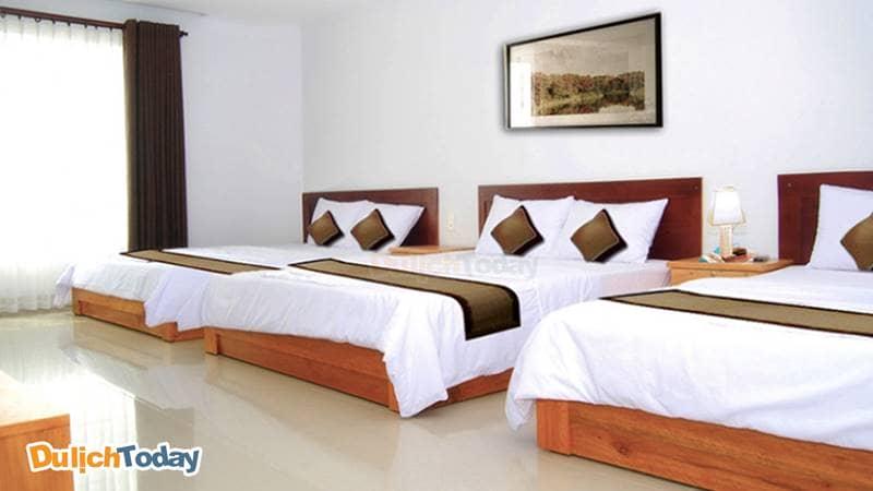 Phòng trong Thiên Nga family hotel có thể có sức chứa từ 6-8 người