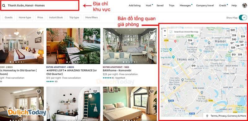 Nghiên cứu các đối thủ Airbnb trong khu vực