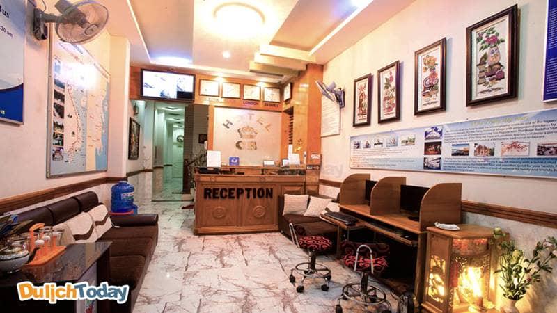 Phòng tiếp đón du khách, checkin tại CR hotel