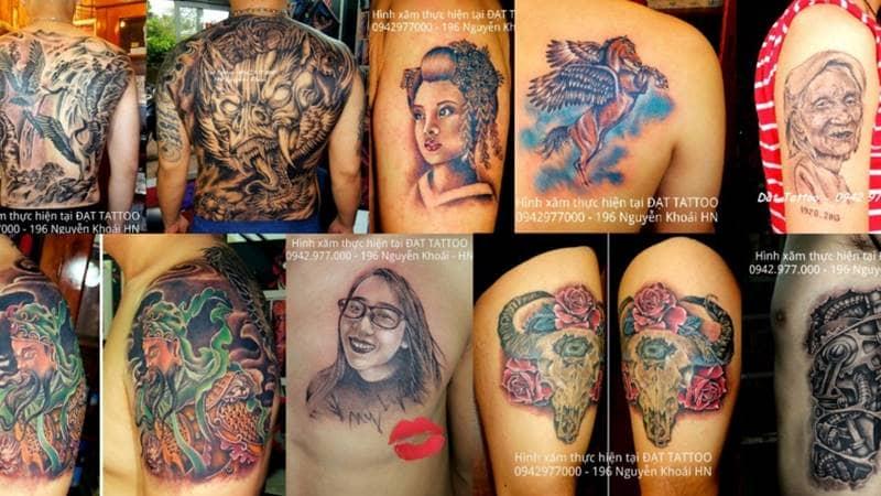 Các mẫu xăm nghệ thuật tại Đạt Nguyễn Tattoo