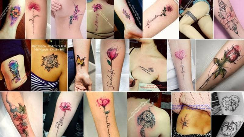 Các mẫu xăm dành cho phái đẹp được khách hàng ưng ý nhất tại Đạt Nguyễn Tattoo