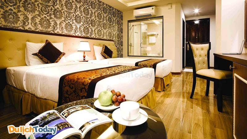 Phòng tại Paris được thiết kế theo phong cách Châu Âu sang trọng
