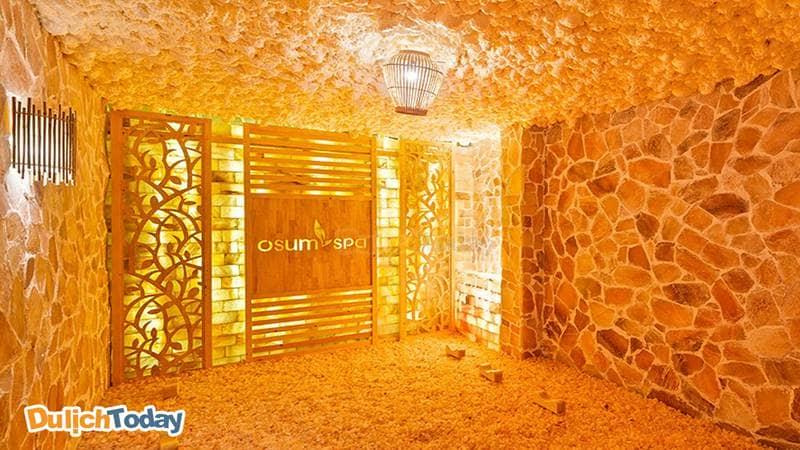 Phòng xông hơi đá muối tại OSum Spa
