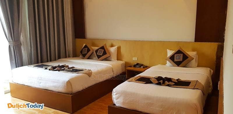 Phòng khách sạn được thiết kế cho số lượng người chẵn