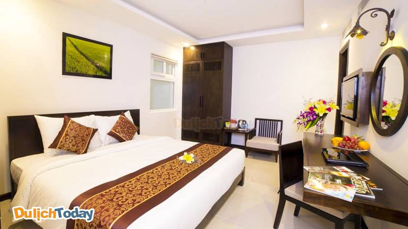 Phòng của Edele hotel Nha Trang đem đến cho du khách cảm giác ấm cúng như đang ở nhà
