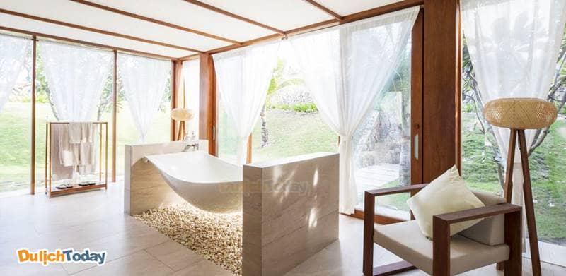 Thiết kế bồn tắm kiểu lơ lửng với không gian thoáng
