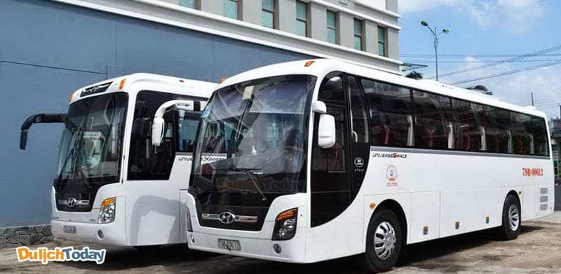 Fusion Resort Nha Trang có xe buýt riêng phục vụ du khách miễn phí