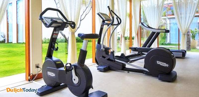 Phòng tập gym rộng rãi và thông thoáng tại resort