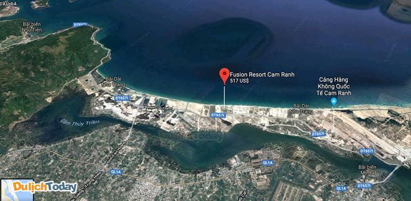 Fusion Resort Nha Trang cách Sân bay Cam Ranh 6 km