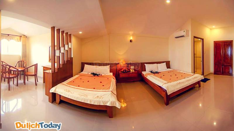 Mỗi phòng nghỉ là một khoảng không gian riêng ấm cúng, hài hòa và thân thiện