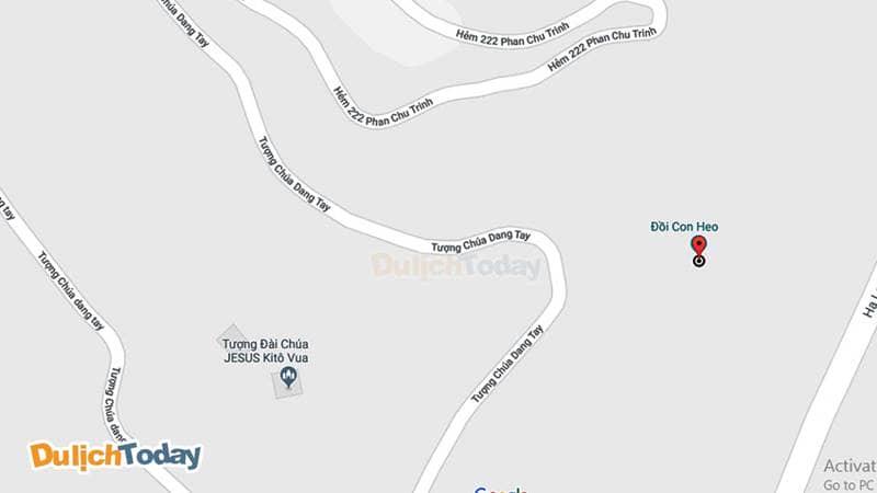 Đồi con Heo trên bản đồ Google Map