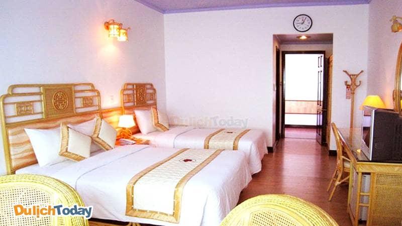 Phòng tại Green hotel Nha Trang phù hợp với gia đình có con nhỏ