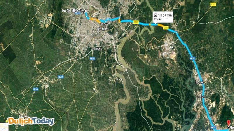 Chỉ dẫn đến hồ Đá Xanh Vũng Tàu bằng Google Map