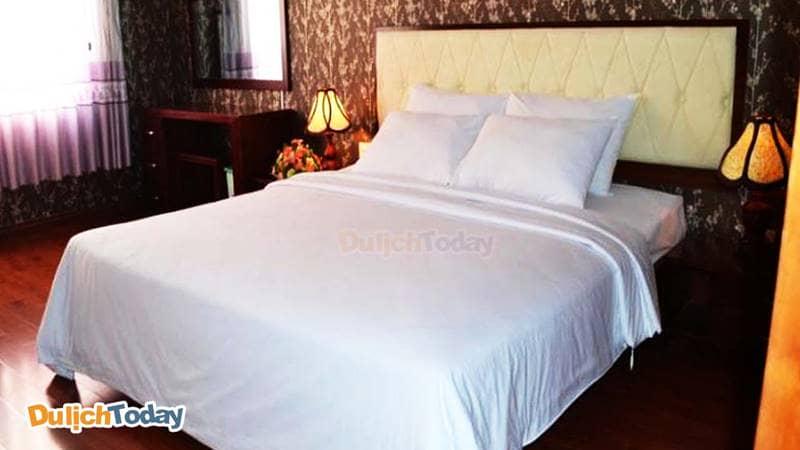 Phòng ngủ tại resort Hồ Mây
