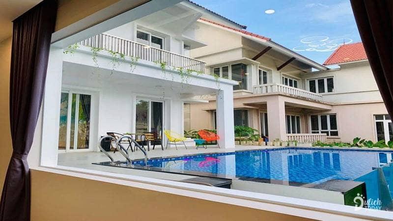 Homestay gần Hà Nội có bể bơi Autumn Flower Villas