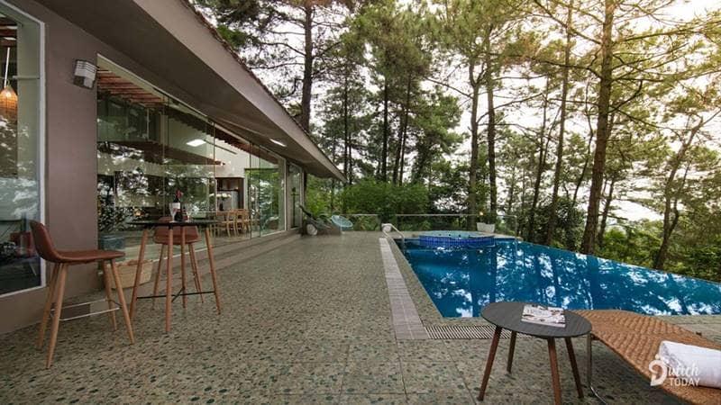 Khu vực bể bơi vô cực của Tam Dao Hideaway Nest