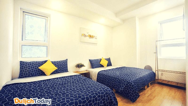 Homestay phù hợp cho các cặp đôi, gia đình với không gian khá yên tĩnh, ấm áp không khí gia đình