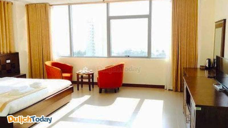 Phòng tại Central Trang với derco đơn giản