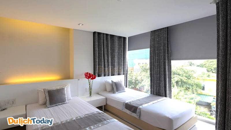 Phòng hướng phố tại Green Peace hotel Nha Trang
