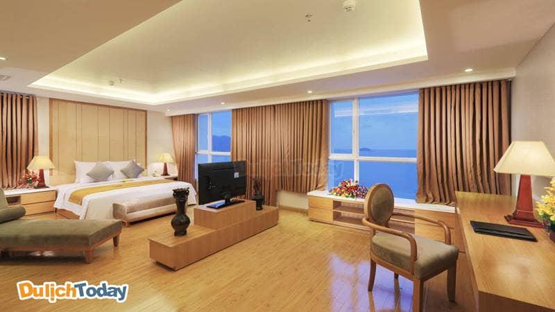 Các phòng của VDB Nha Trang có hướng nhìn ra biển