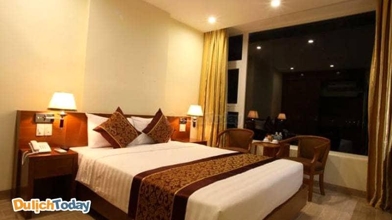 Phòng tại Worderland Hotel Nha Trang với cửa sổ nhìn view toàn cảnh