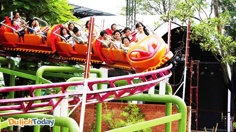 Trò chơi dành cho thiếu nhi tại khu du lịch Hồ Mây Vũng Tàu