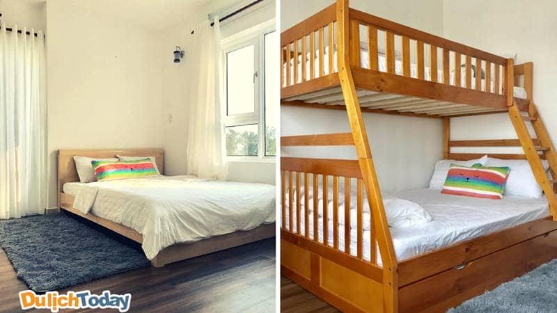Phòng ngủ với các kiểu giường phù hợp cho các gia đình tại Kim's House