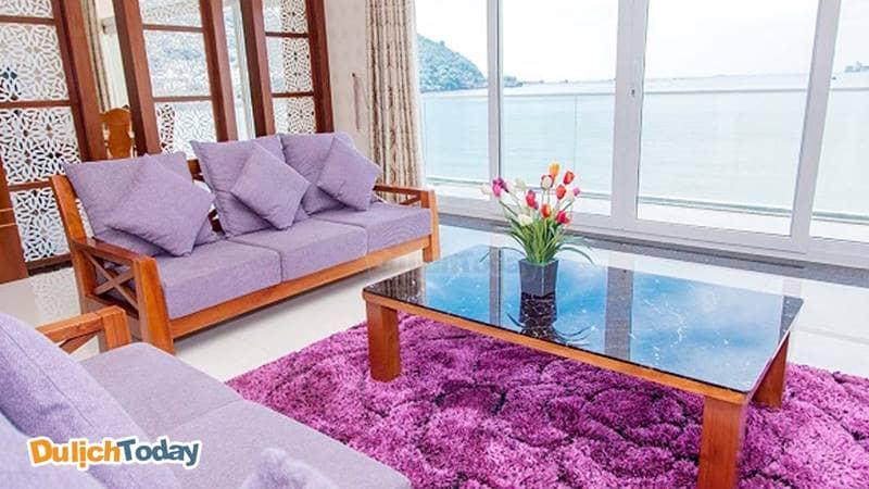 Phòng khách tại biệt thự Lavender Villa 9, Vũng Tàu