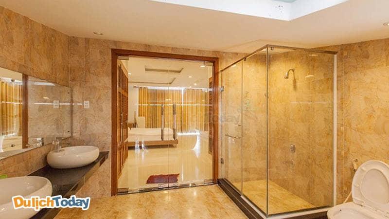 Phòng tắm luôn được thiết kế có luôn trong phòng ngủ