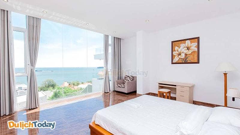Phòng ngủ có view hướng ra biển