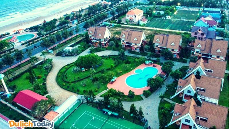 Toàn cảnh Resort Lotus Vũng Tàu từ trên cao với 7 căn biệt thự sang trọng