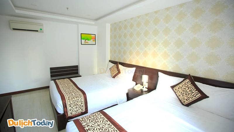 Phòng ngủ thích hợp cho nhóm bạn của Lucky star hotel