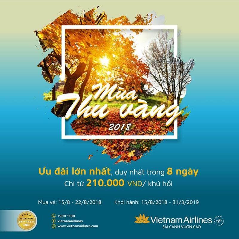 Mùa thu vàng Vietnam Airline