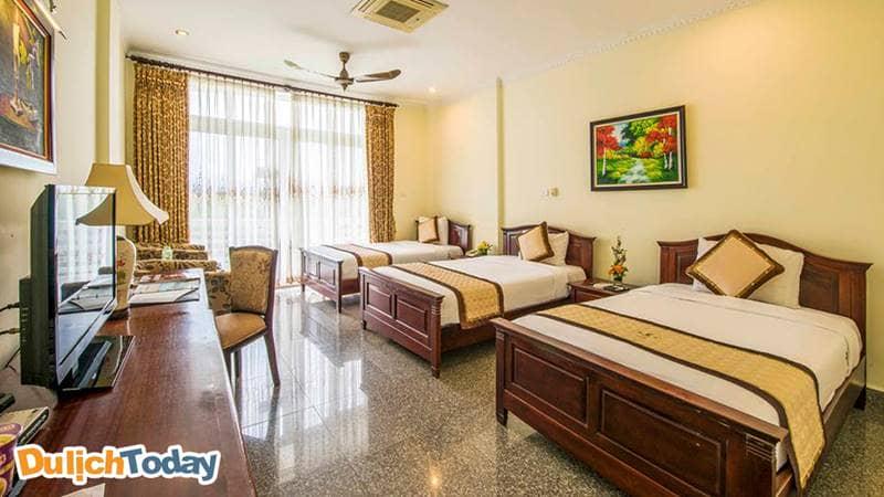Khu Khách Sạn còn có phòng Triplerất phù hợp với gia đình có bé lớn hoặc muốn đưa người trông trẻ đi cùng gia đình