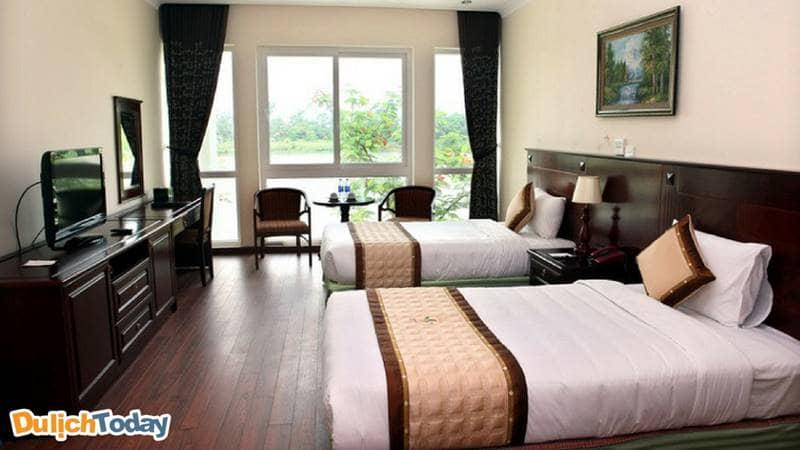 Phòng twin rất phù hợp du khách đi nghỉ muốn trải nghiệm không gian nghỉ ngơi yên tĩnh
