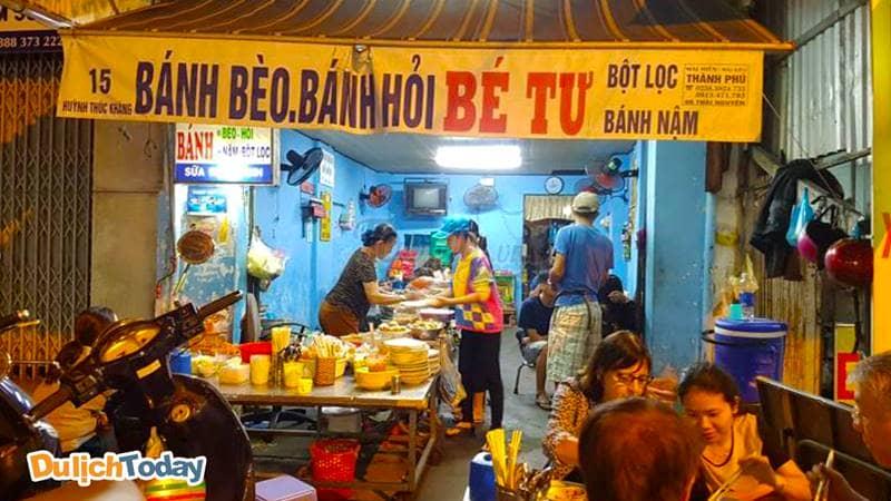 Bánh bèo Bé Tư là một trong những quán ăn ngon Nha Trang số zách
